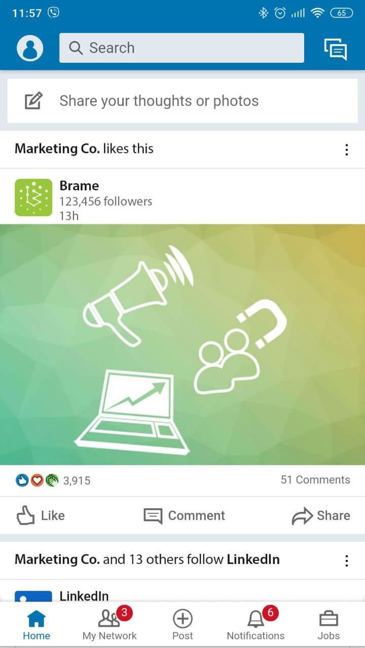 Promotion Linkedin | Brame